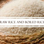 Raw Rice and Boiled Rice
